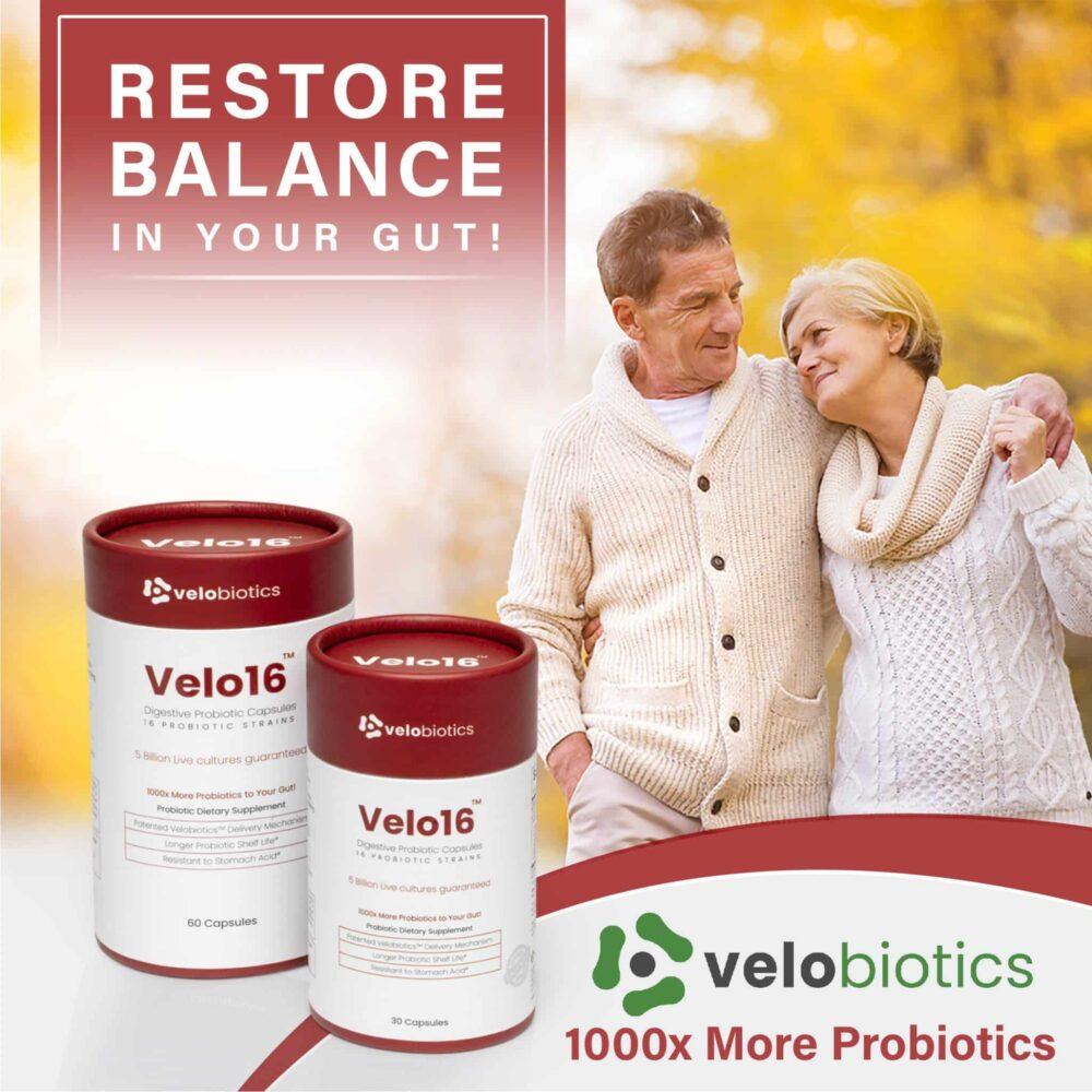 Velo16 Probiotic Digestive Capsules - Restore Balance